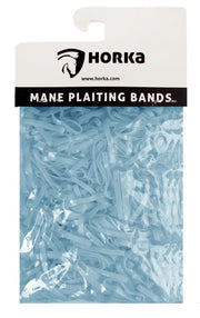 Horka Mane 'Plaiting Bands' Grooming Accessories Light Blue