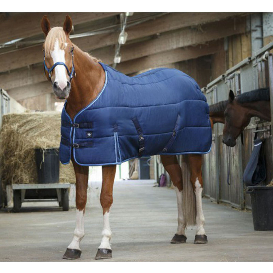 Riding World Stable Rug Navy/Sky Blue