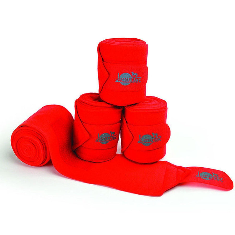 Jumptec Double Sided Polo Bandages Set of Four Red