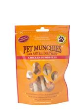 Pet Munchies Chicken & Rawhide Dumbbells