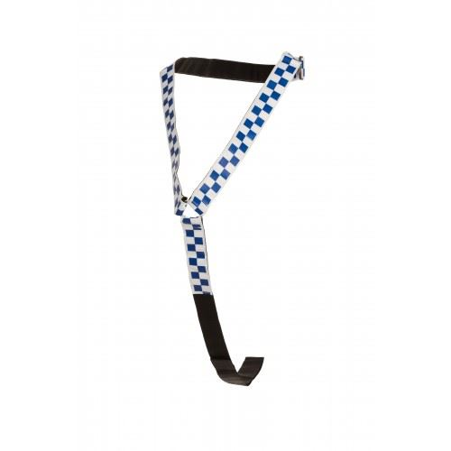 EquiSafety Reflective Polite Neckband Blue