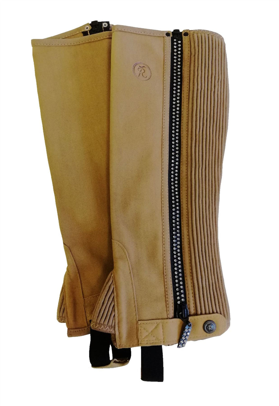 Riders Trend Diamond Chaps With Gloves Beige