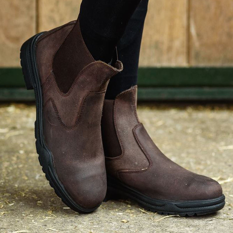 Joy Rider Steel Toe Riding Boots Brown