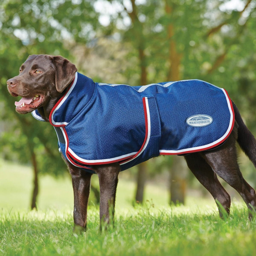 Weatherbeeta Parka 1200D Deluxe Dog Coat Red/White/Blue