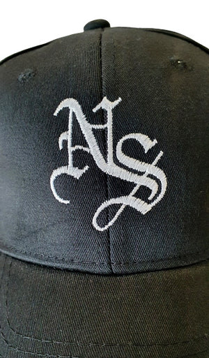 Black Snapback (White NS)