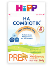 Load image into Gallery viewer, HiPP HA Germany Hypoallergenic Stage PRE (0-6 months) Combiotic Infant Milk Formula - 600g