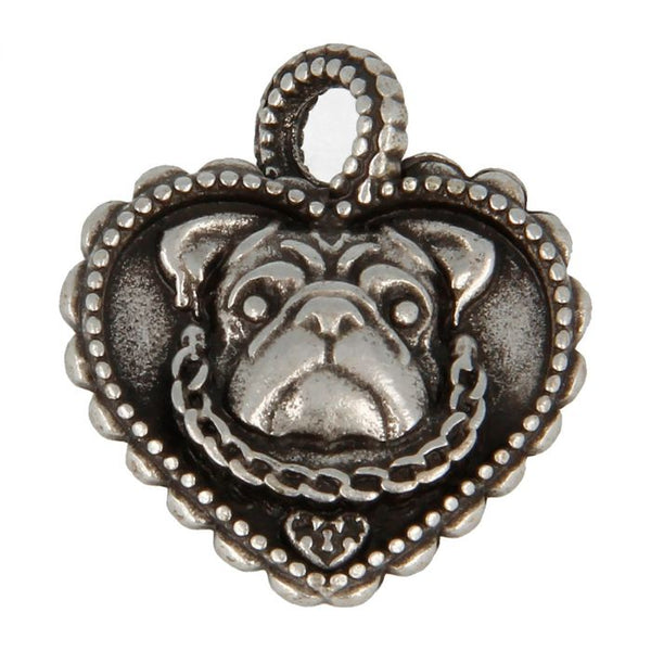Made for Luxury - Collana Pendente Cuore Con Bulldog Inglese - 3146