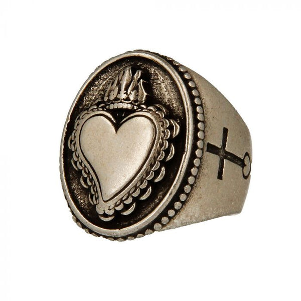 Made for Luxury - Anello Cuore Sacro con Croce a Lato - 3231 - Pietro Ferrante