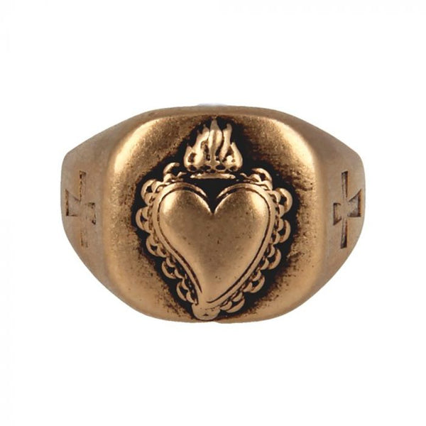 Made for Luxury - Anello Sacro Cuore con Croce - B3652 - Pietro Ferrante