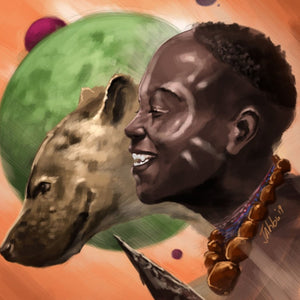 Boy and the hyena