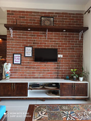 Living room - TV unit-TV wall-corbel shelf