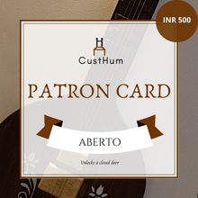 Load image into Gallery viewer, CustHum-Patron Card-500