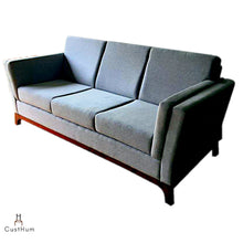 Load image into Gallery viewer, CustHum-Aasana-upholstered sofa (profile view)