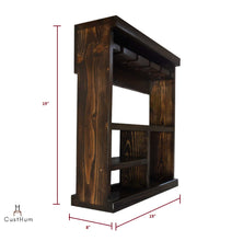 Load image into Gallery viewer, CustHum-Acan-open bar cabinet shelf-dimensions