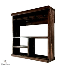 Load image into Gallery viewer, CustHum-Acan-open bar cabinet shelf-01