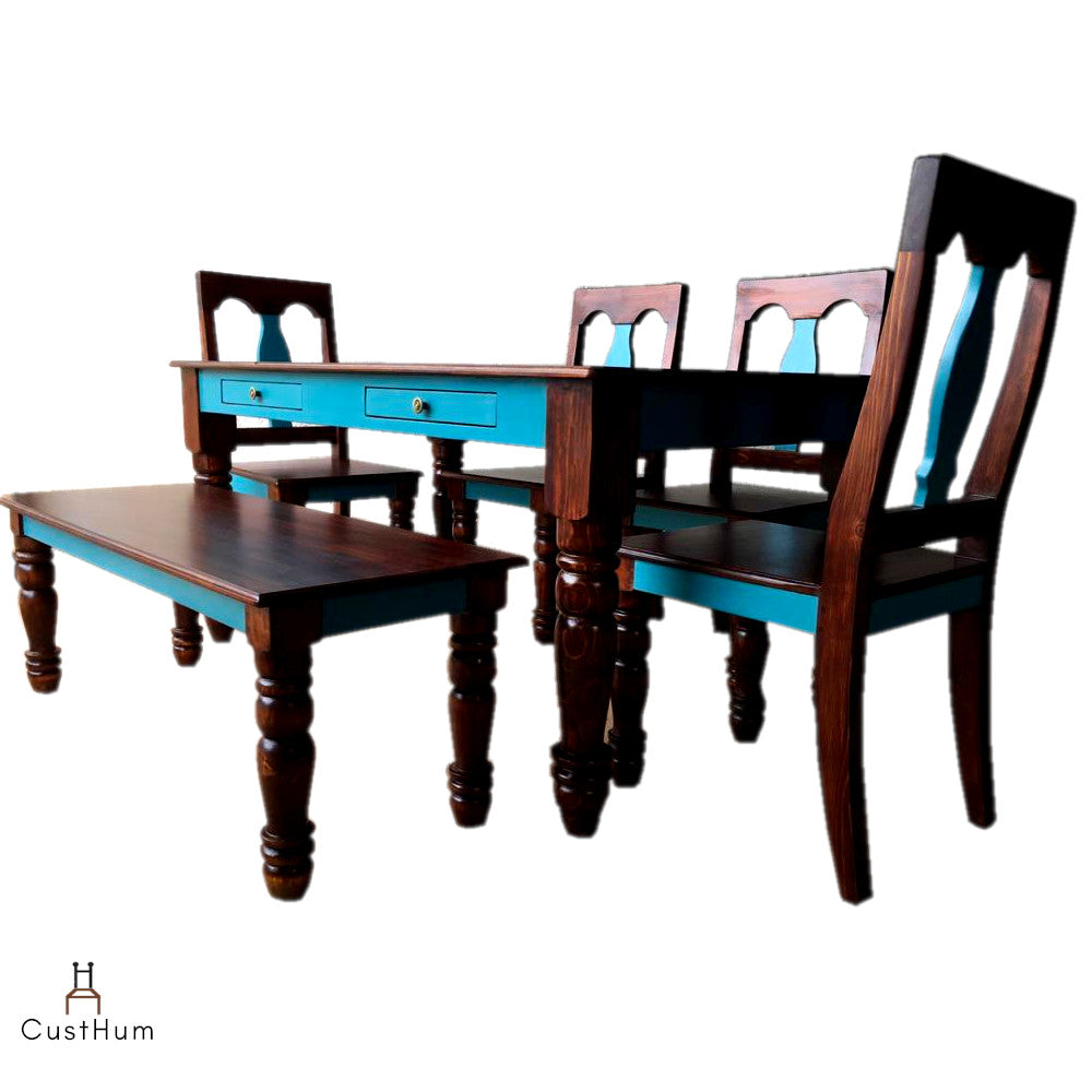 Afreen - 6-Seater Solid Wood Dining Set