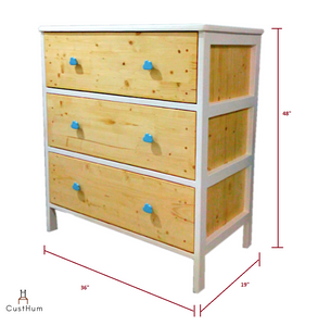 CustHum-Arendelle-chest of drawers with cloud shaped handles-dimensions