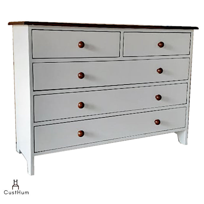 CustHum-Armorica-Two-tone Solid Wood Chest of Drawers 01