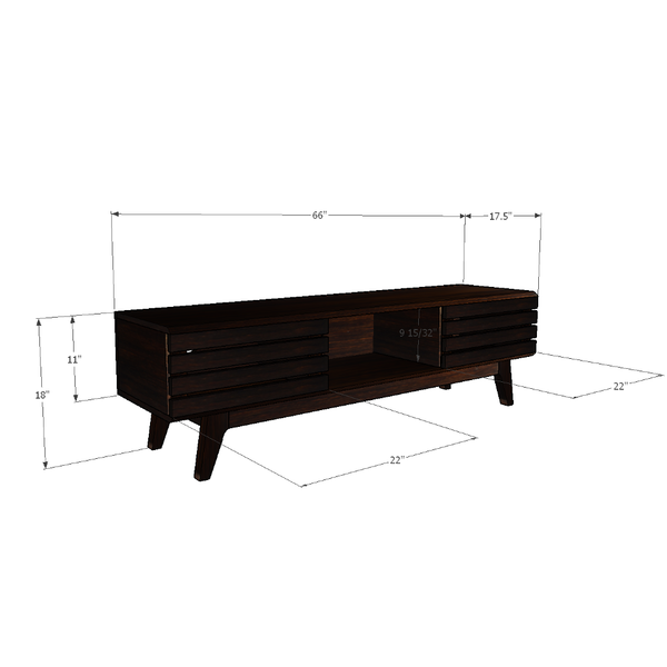 Baird - Sleek Solid Wood TV Stand