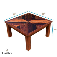 Load image into Gallery viewer, CustHum-Corfu-herringbone-coffee-table-dimensions