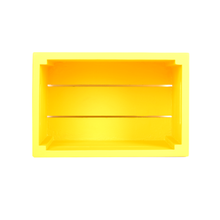 Load image into Gallery viewer, CustHum-Crate-shelf-yellow01