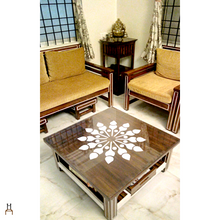 Load image into Gallery viewer, CustHum-Daffodil-coffee-table-in-situ