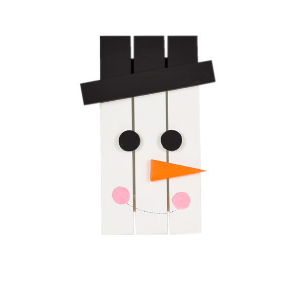 Frosty – Colorful Wooden Snowman