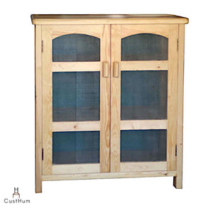 CustHum-Granny's Larder-kitchen cabinet with wire mesh doors-1