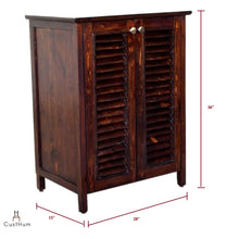 Load image into Gallery viewer, Gustav - Solid Wood Louvered Shoe Storage Cabinet