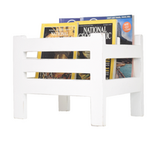 Load image into Gallery viewer, CustHum-Hamlet-magazine-holder-white01