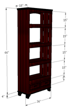 Load image into Gallery viewer, CustHum-Jade-oriental-shelf-dimensions