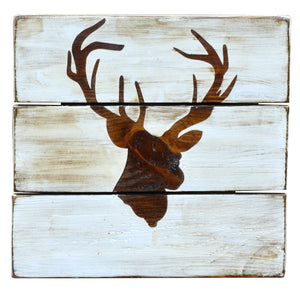 Stag Head - Rustic Wall Board