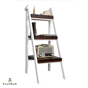 Zeppelin - 3-Tier Solid Pinewood Ladder Shelf