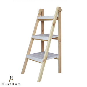 CustHum-Zeppelin-ladder-shelf-naturalpine