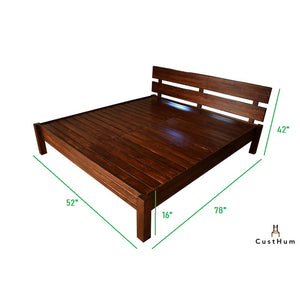 CustHum-Orchid-slatted wooden cot-compact