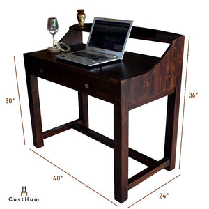 Bordeaux - Mid-Century Work Desk with Storage