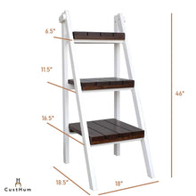 Load image into Gallery viewer, Zeppelin - 3-Tier Solid Pinewood Ladder Shelf