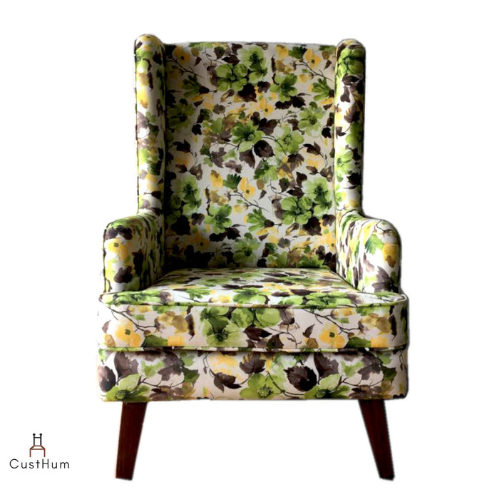 CustHum-Mirkwood-upholstered solid wood wing chair-01