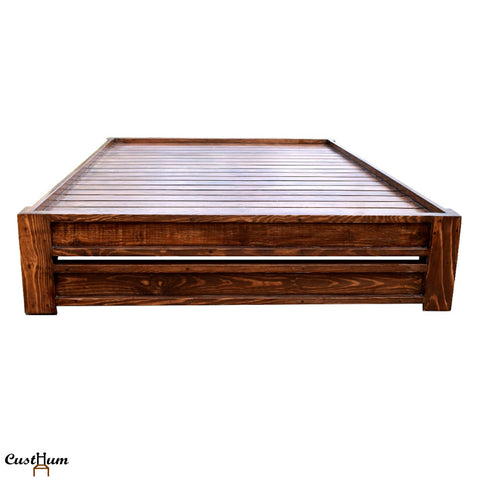 Periwinkle - Simple Solid Wood Cot
