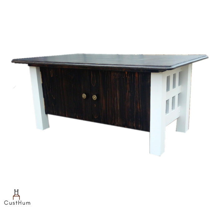 CustHum-Petunia-coffee table with storage-doors closed