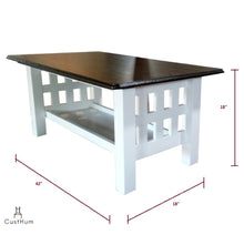 Load image into Gallery viewer, CustHum-Petunia-center table-coffee table-dimensions