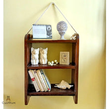 Load image into Gallery viewer, CustHum-Roma-rustic farmhouse style rope shelf-01