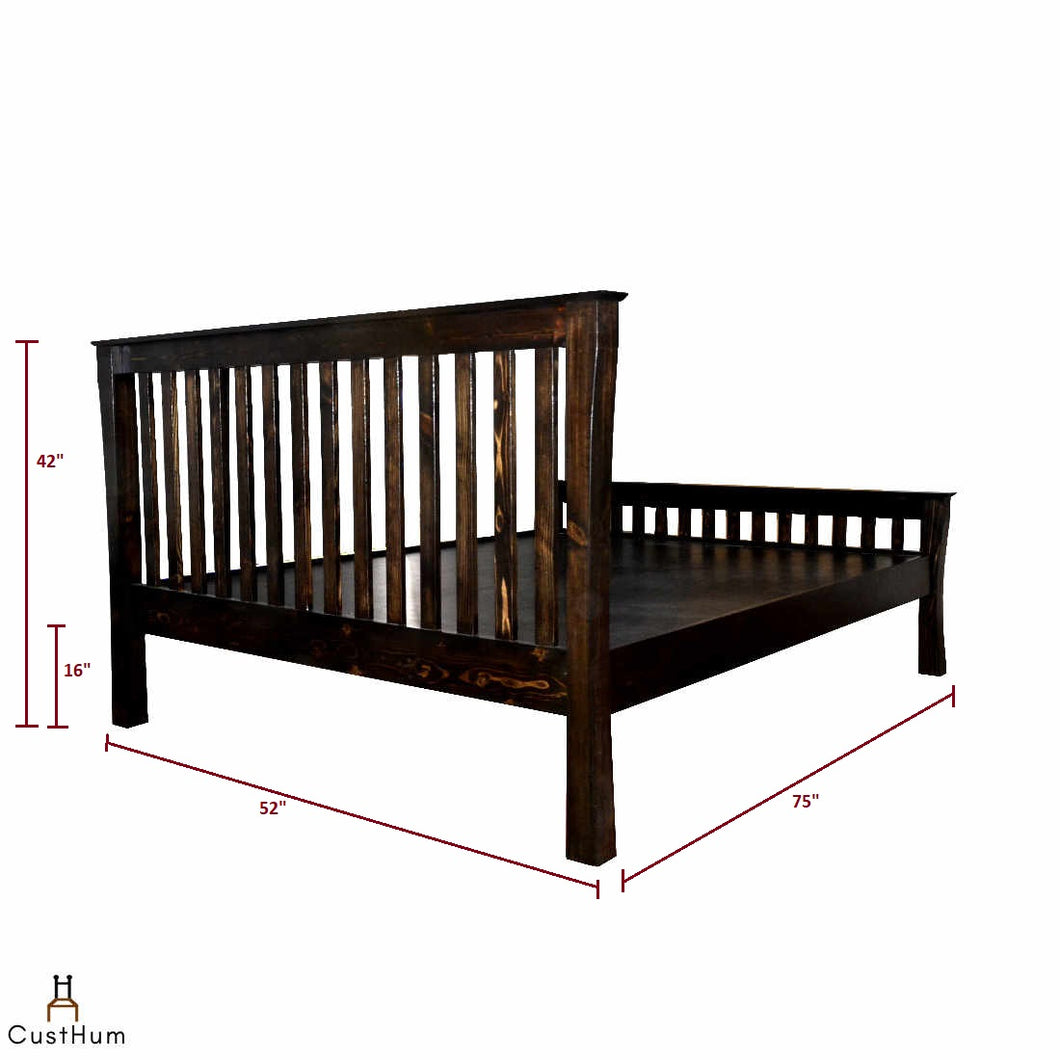Shinto - Oriental Solid Wood Cot