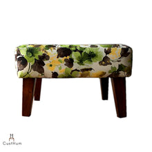 Load image into Gallery viewer, CustHum-Smial-upholstered solid wood ottoman-01