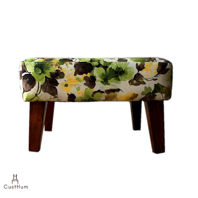 CustHum-Smial-upholstered solid wood ottoman-01