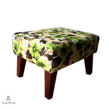 Load image into Gallery viewer, CustHum-Smial-upholstered solid wood ottoman-02