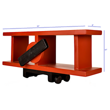 Load image into Gallery viewer, CustHum-Sopwith-airplane-shelf-red-dimensions