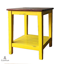 Load image into Gallery viewer, CustHum-Vasanth-solid wood side table-01