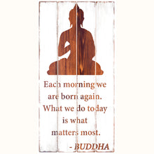 Load image into Gallery viewer, Buddhist Wisdom - Rustic Wall Board