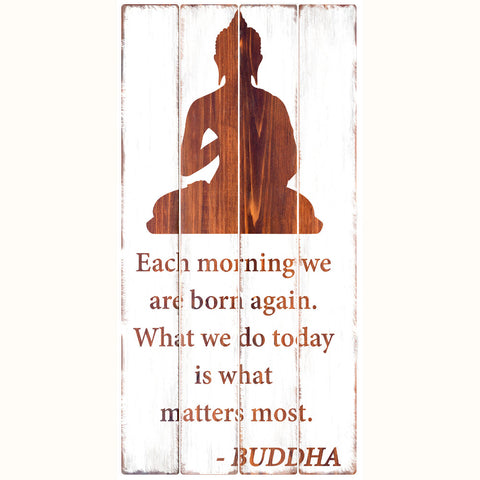 Buddhist Wisdom - Rustic Wall Board